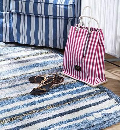 Ideas para reciclar vaqueros alfombras con reciclaje