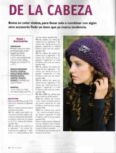 Patrones de boinas a crochet: La moda en ganchillo - Diario Artesanal