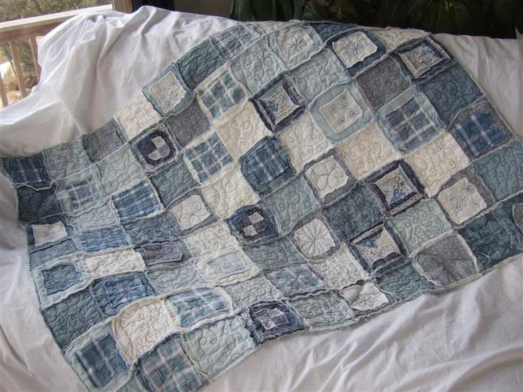 Ideas para reciclar vaqueros mantas hechas con bordado