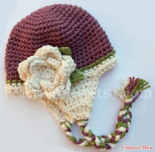 patrones crochet, gorros con orejeras para niños y bebés 8