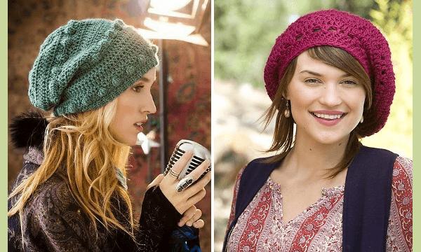 35b0ab2dcbd8a Patrones de boinas a crochet  La moda en ganchillo - Diario Artesanal