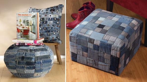 Ideas para reciclar vaqueros 45 manualidades con jean for Ideas decoracion reciclaje