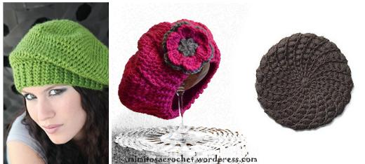 patrones de boinas a crochet