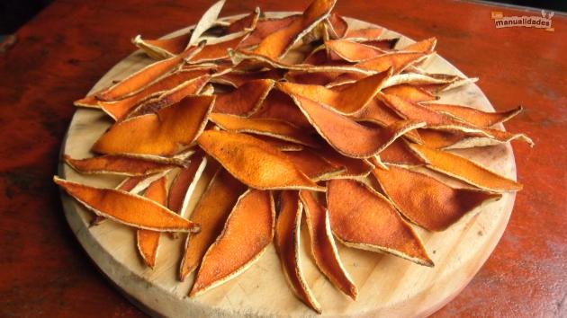 Secar cascaras de naranja