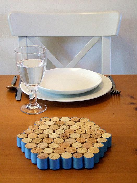 Ideas para reciclar corchos posacacerolas