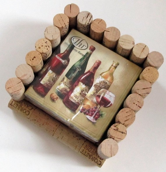Caja para posavasos ideas para reciclar corchos