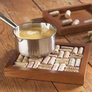 Ideas para reciclar corchos posafuentes de madera