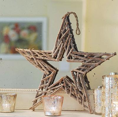 Estrella hecha con ramas