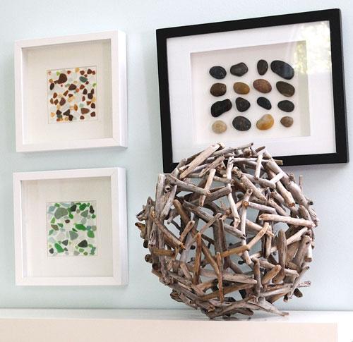 Esfera decorativa con ramas