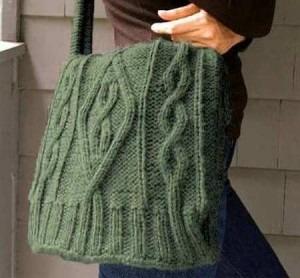 Idea de bolso hecho con reciclaje de tejidos