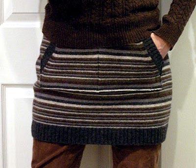 Falda de tejidos reciclados