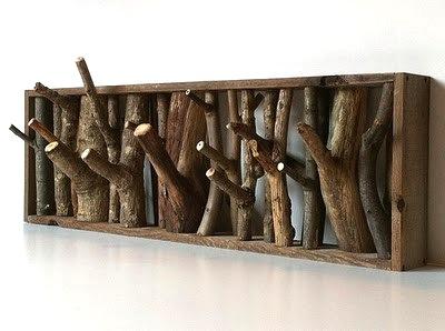 Modelo de perchero con ramas