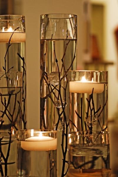 Idea decorativa para las velas flotantes