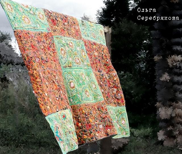 Técnica artesanal para hacer mantas y telas