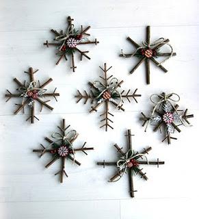 Adornos de navidad con ramas DIY