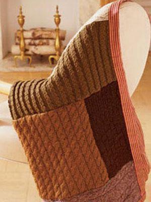 Manta reciclada hecha con suéteres viejos