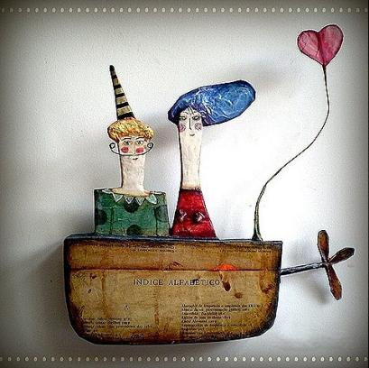 Esculturas divertidas en papel mache