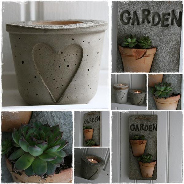 Macetas de cemento ideas decorativas