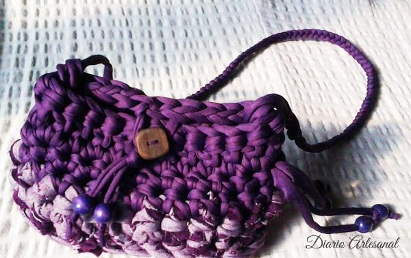 Bolso trapillo violeta