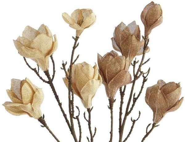 Flores de arpillera para una decoraci n r stica y rom ntica diario artesanal - Flores de telas hechas a mano ...