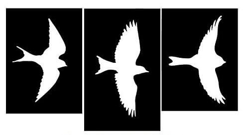 Plantillas de pájaros para decorar paredes