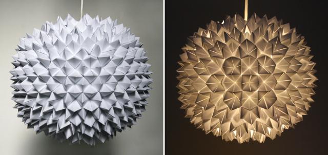Ideas y moldes para hacer lámparas de papel   diario artesanal