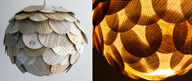 Cómo hacer lámparas de papel reciclado
