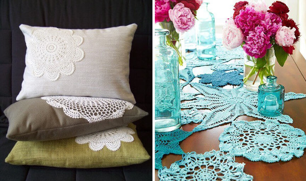 Ideas para decorar con manteles de crochet