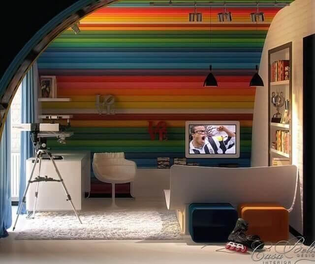 Revestimientos para paredes con maderas de colores