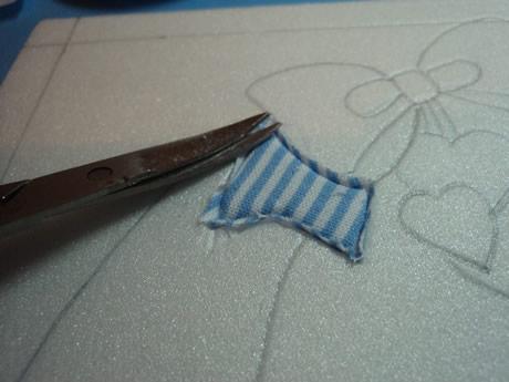 Recortar el excedente de tela