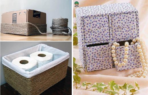 20 Ideas Para Reciclar Carton Fuera Cajas Diario Artesanal