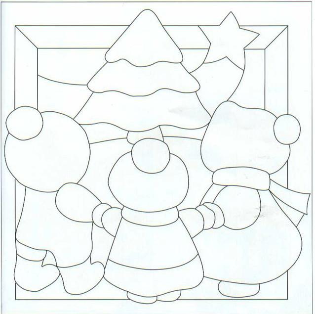Plantilla de patchwork modelo de navidad