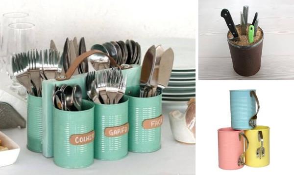 Ideas para reciclar latas en la cocina