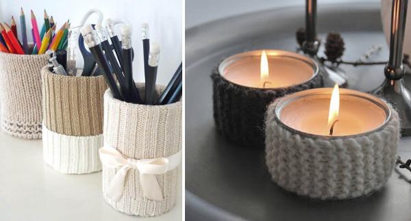 Ideas para reciclar latas y sueteres de lana