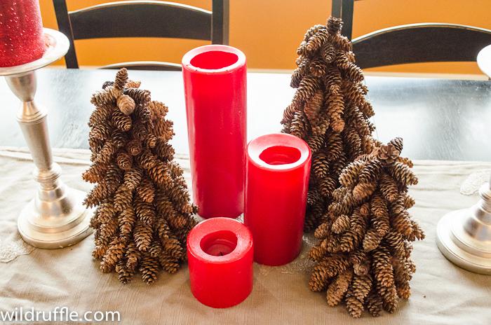 Arbolitos de navidad para decorar con piñas