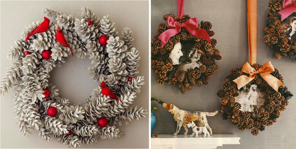 Imagenes De Adornos Navidenos Hechos Con Pinas.Decorar Con Pinas Ideas De Adornos Para Una Navidad