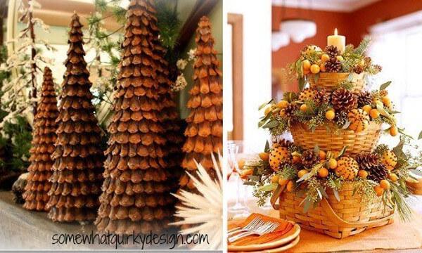 Decorar con pi as ideas de adornos para una navidad - Adornos de navidad hechos con pinas ...