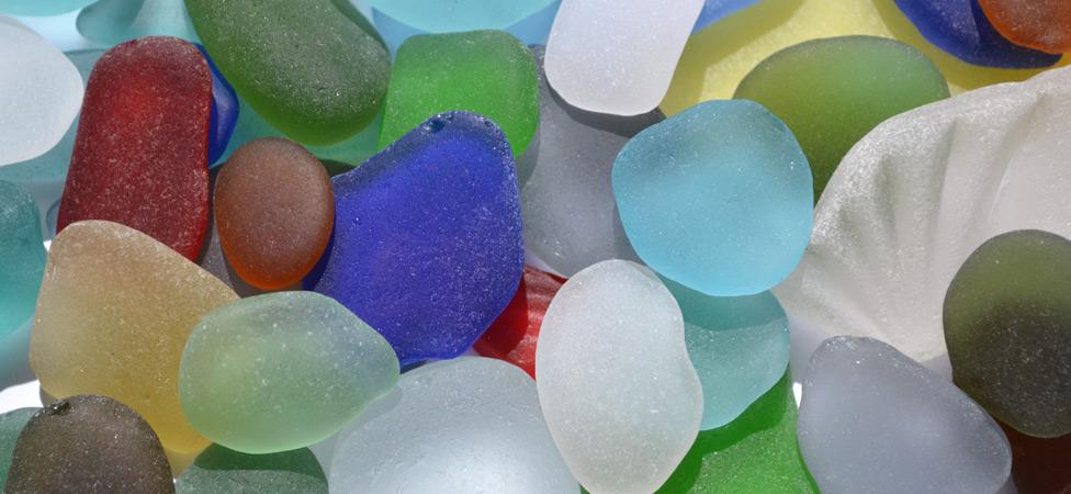 Vidrios del mar para hacer bisuteria natural