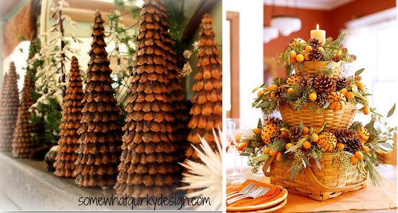 Ideas de navidad para decorar con pi as diarioartesanal - Pinas de pino para decorar ...