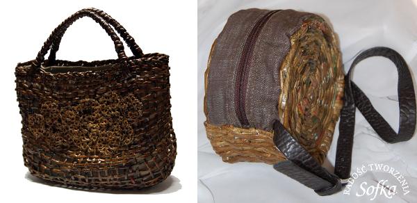 Modelos de bolsos de periódico reciclado