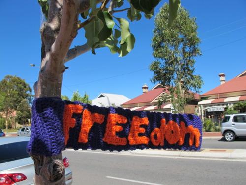 Yarnbombing freedom
