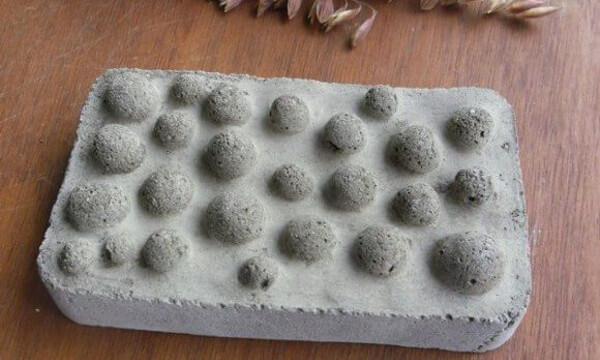 Jaboneras caseras hechas con cemento