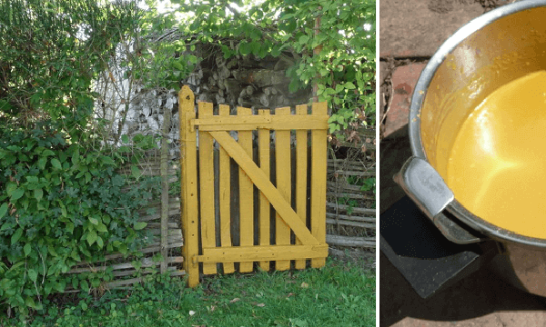 Pintura casera de harina para maderas exteriores