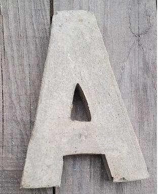 Letra de cemento