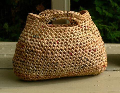 Ideas para reciclar bolsas con crochet