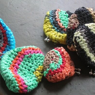 Monederos a crochet tejidoc on bolsas