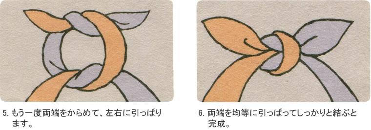 Cómo hacer un nudo para furoshiki