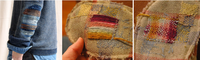 Paso a paso para coser un parche con lana