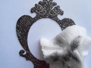 Marco para fotografías en papel de aluminio