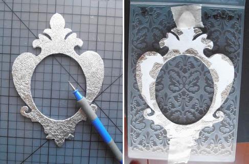 Pasar un rodillo para darle textura al aluminio